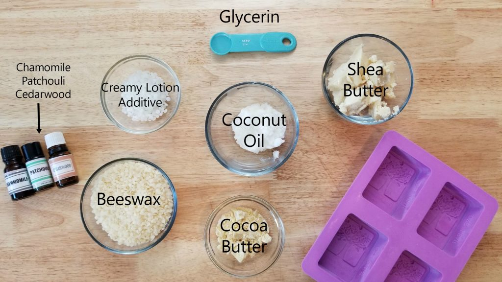 ingredients for lotion bars
