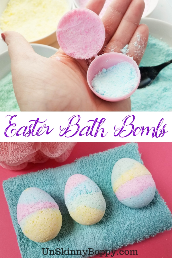 These Easter egg bath bombs are simple and easy to make! They're the perfect DIY gift for any Easter holiday! #bathbomb #easter #diy