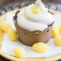 lemonade cupcake on plate