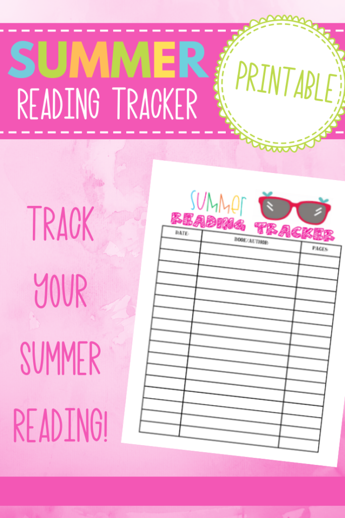 free printable summer reading tracker