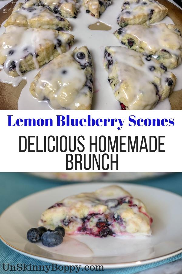 Delicious Lemon Blueberry Scones
