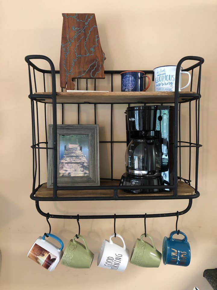 wall hung coffee station