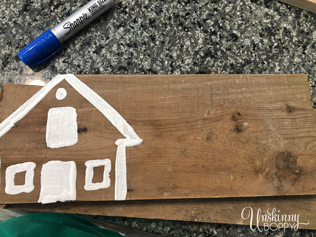 How to paint a directional sign for a house