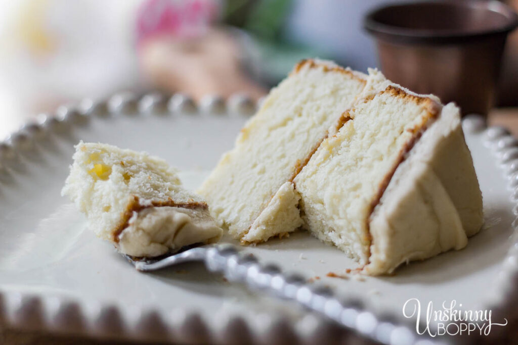White  Wedding Cake with Caramel Icing Recipe