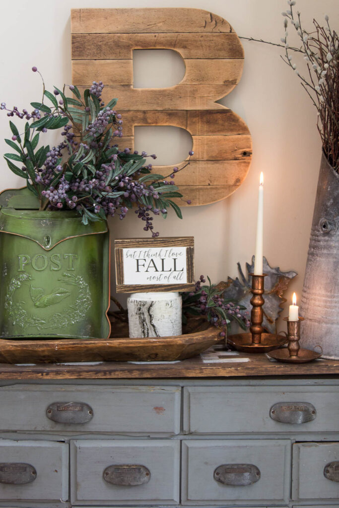 Fall Apothecary Cabinet