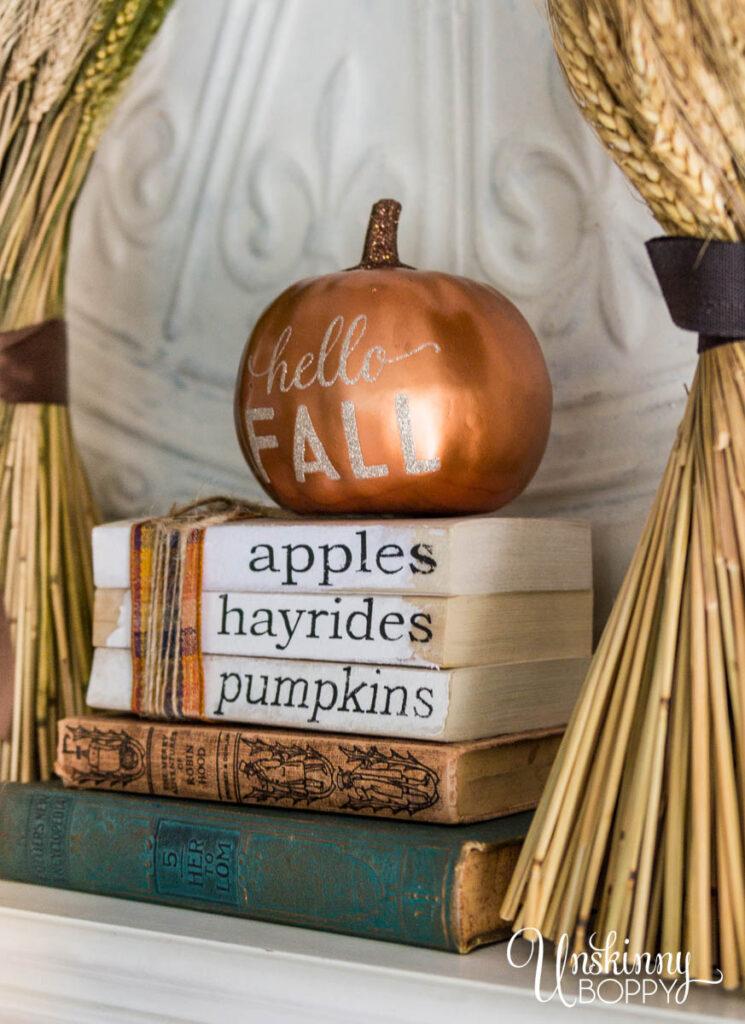 Apples Pumpkin Hayrides Book Stack