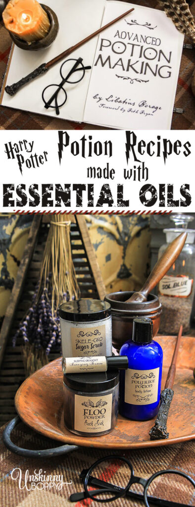 Harry Potter Potions recipes with essential oils