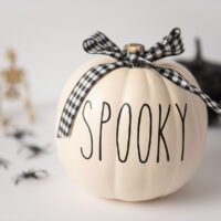 Rae Dunn Spooky Pumpkin DIY