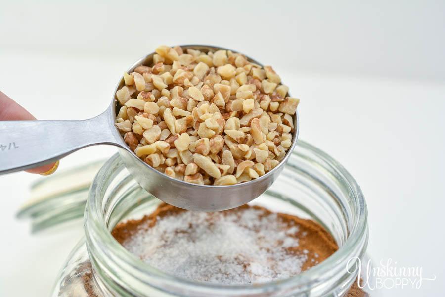 Keto Pumpkin Spice Muffin Mix in a Jar- add chopped walnuts