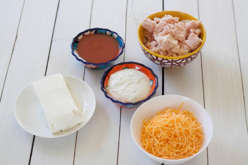 Crockpot Buffalo Chicken Dip ingredients