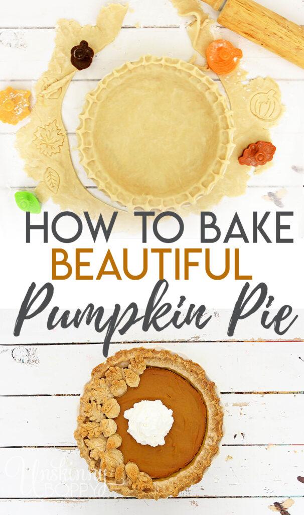 How to Bake a Simple + Pretty Pumpkin Pie (Semi-Homemade Recipe)