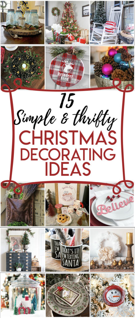 15 simple and thrifty Christmas Decor Ideas