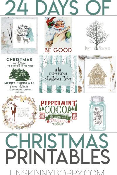 24 DAYS OF CHRISTMAS PRINTABLES