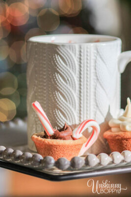 Cable Knit sweater mug with hot chocolate cookie cup
