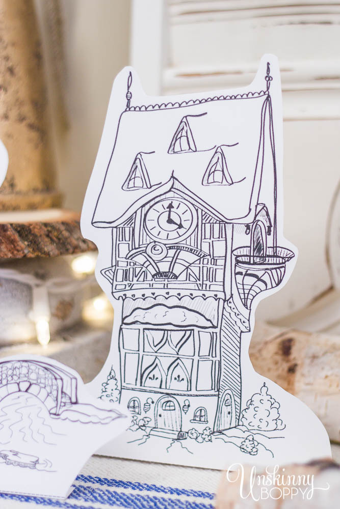 Frozen Clock Tower Free Printable