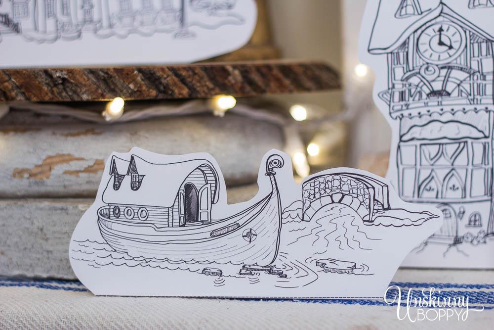 Frozen Arendelle boat printable