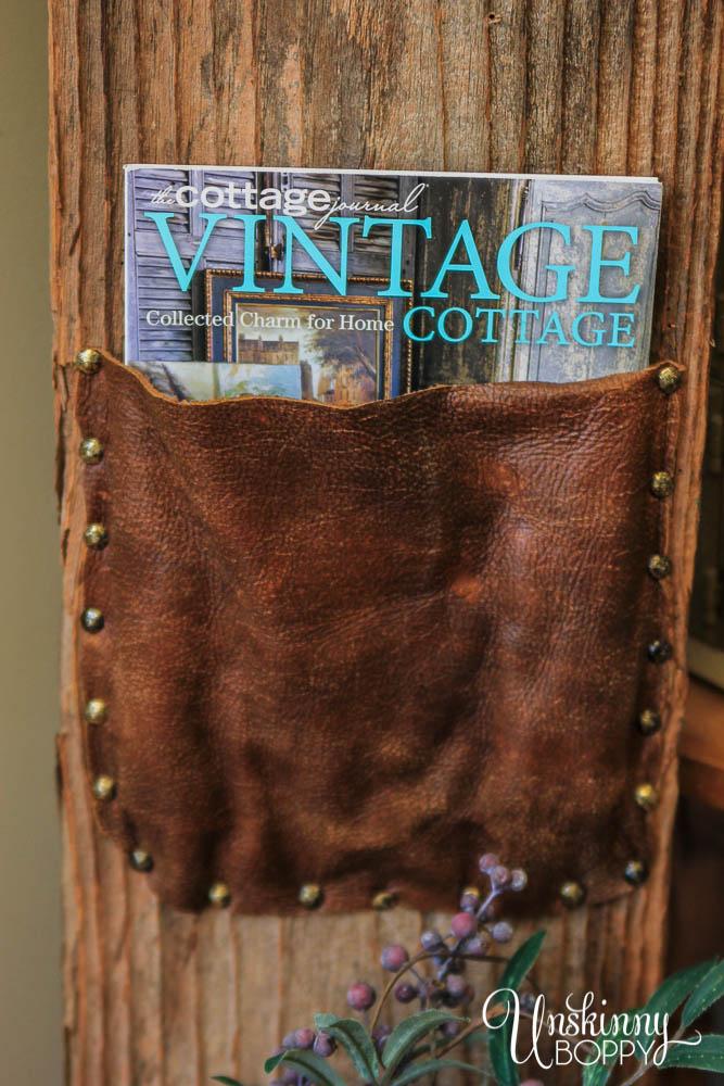 How to diy leather magazine rack