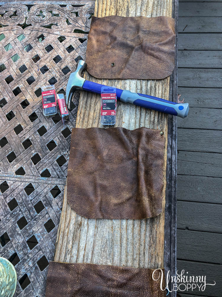 cutting leather pouches