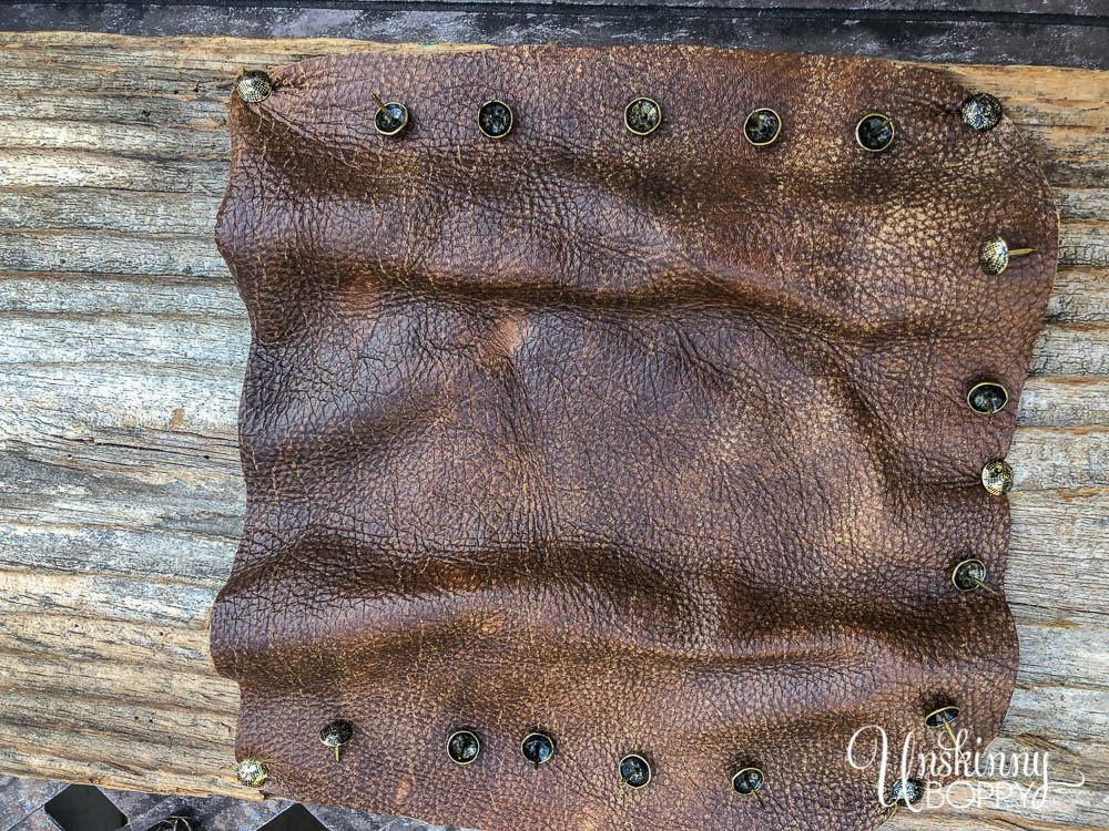 upholstery tacks in leather