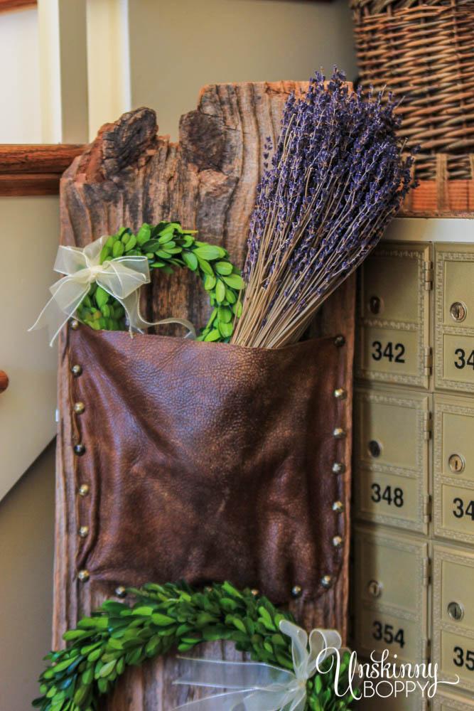 Leather magazine rack DIY