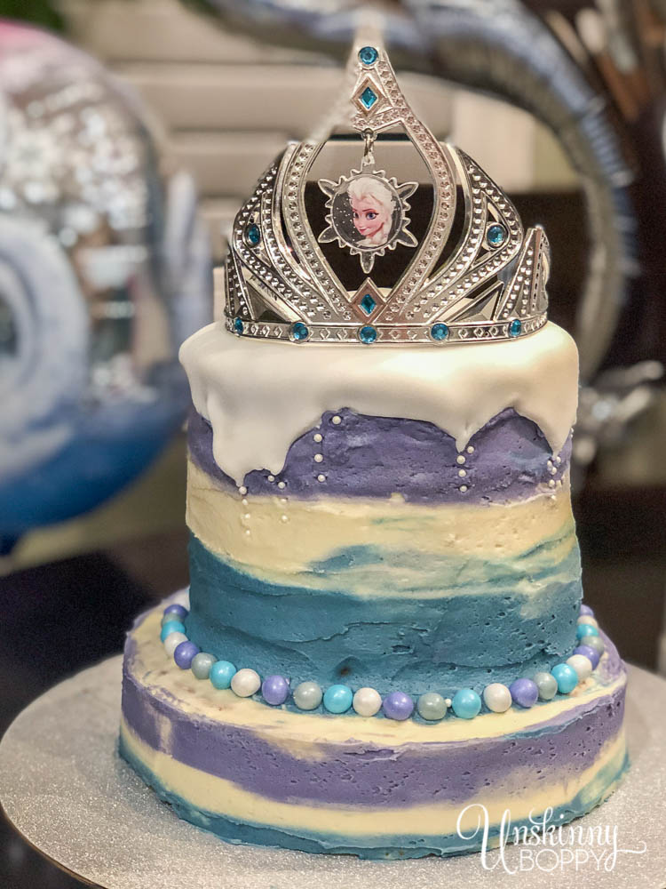 Simple Frozen Birthday Cake Elsa Crown