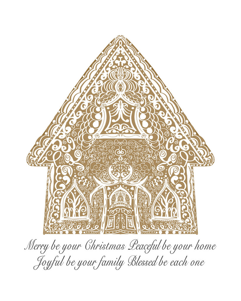 Gingerbread House Free Christmas Printables
