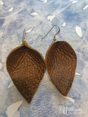 DIY Leather Leaf Earrings