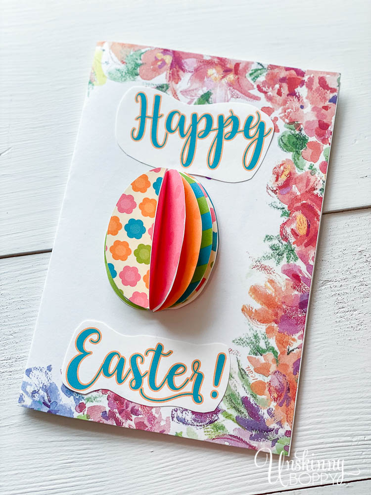DIY Happy Easter Card with a colorful 3D popup Easter Egg (video instructions in post)
