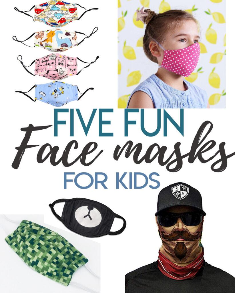 5 cute face masks for kids