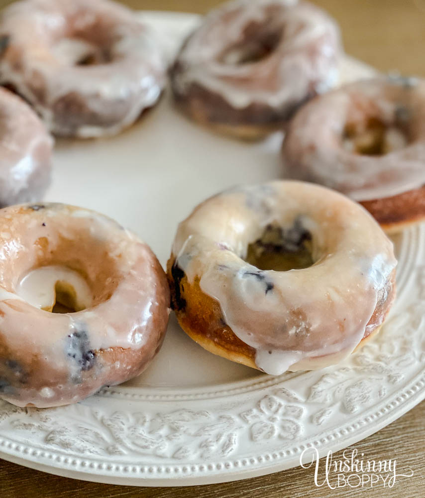 Homemade Lemon Blueberry Cake Doughnut Recipe