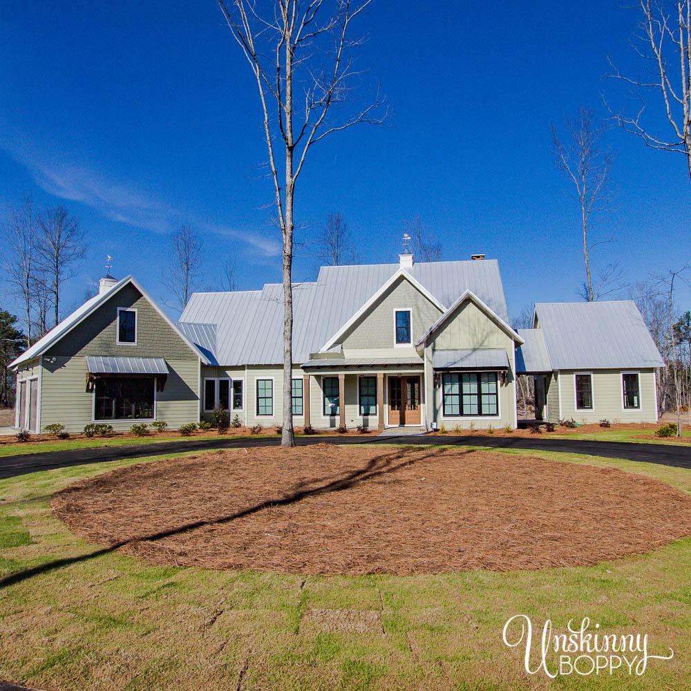Light green farmhouse paint exterior