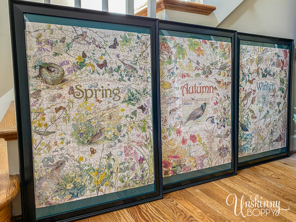 Country Diary of an Edwardian Lady puzzles framed