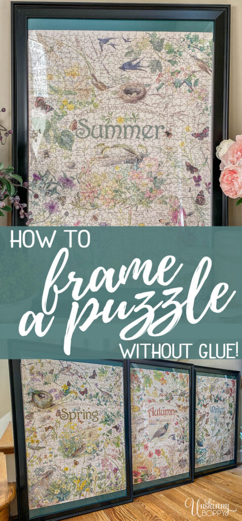 How to frame a puzzle without glue!