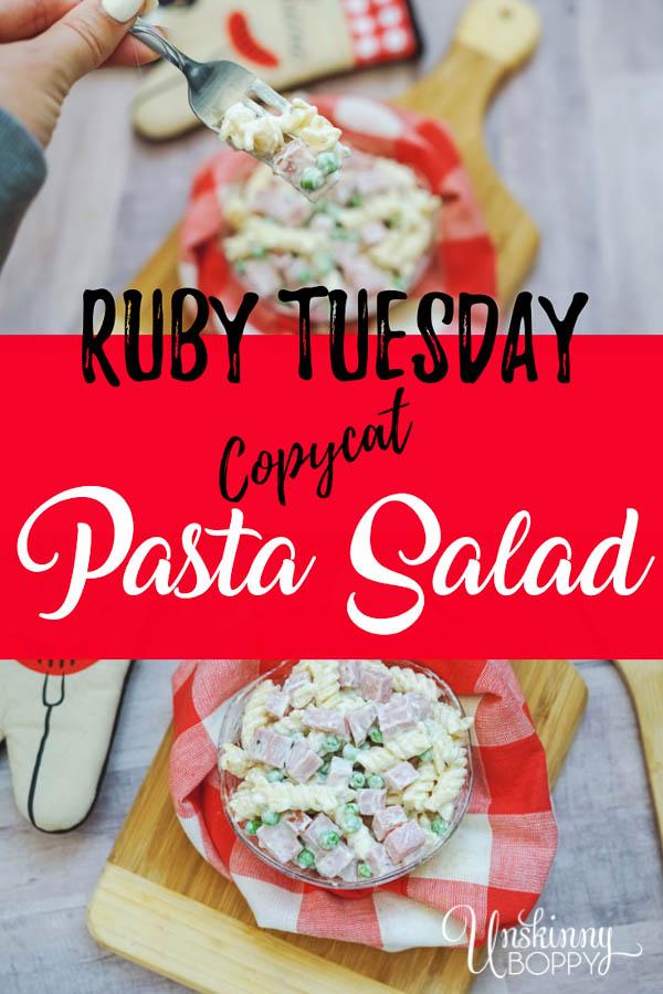 Ruby Tuesday Copycat Pasta Salad Recipe #copycatrecipe #recipes #pasta #pastasalad #whatsfordinner