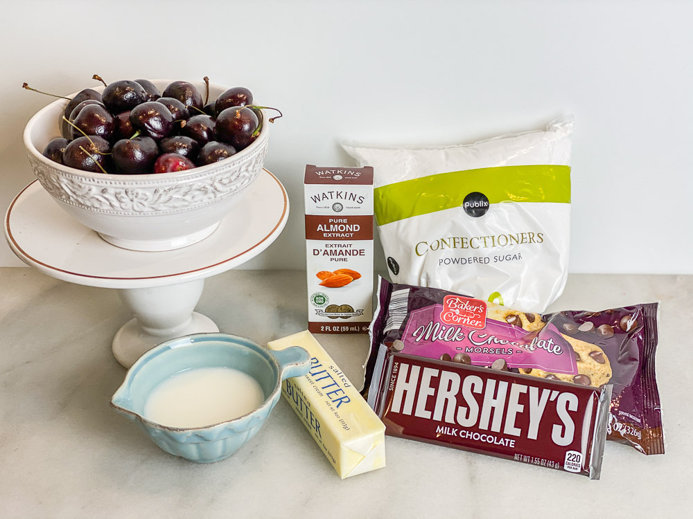 ingredients for chocolate covered cherries