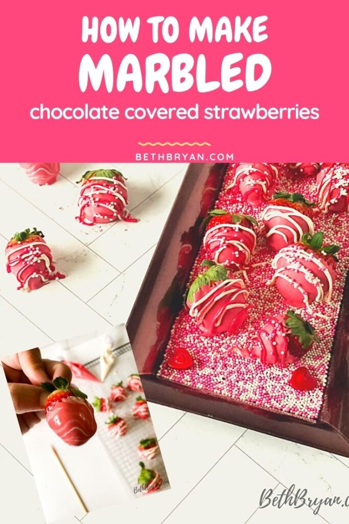 How to make Marbled Chocolate covered Strawberries