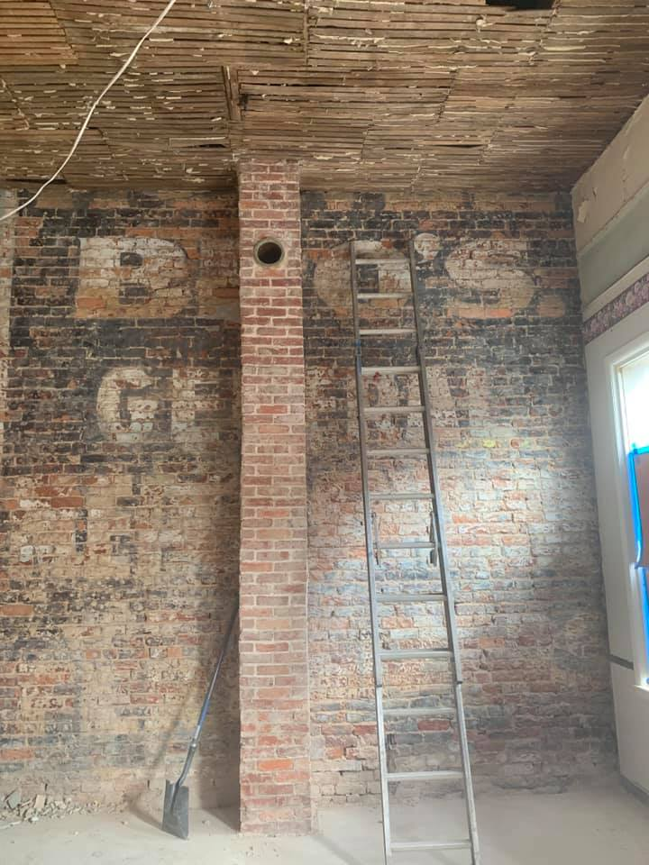 Old Brick Wall exposed