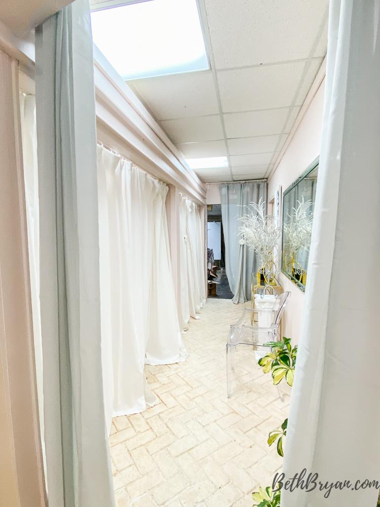 dressing rooms at  Tapp18