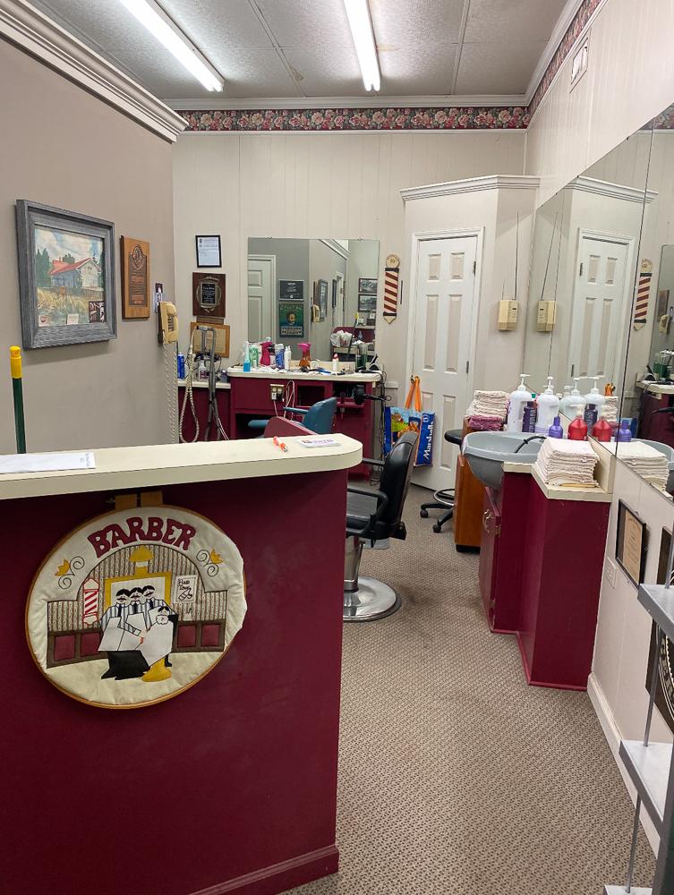 Barber shop before
