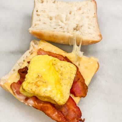 Bacon Gouda Breakfast Sandwich copycat recipe-4